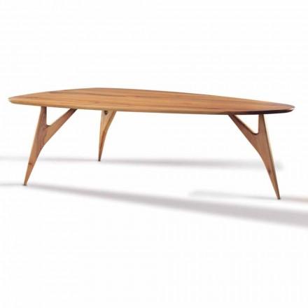 Table à manger, fabriquée à la main, en bois de noyer massif fabriqué en Italie - Nocino