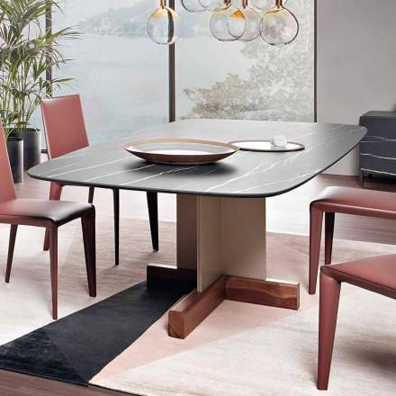 Table à manger avec plateau en céramique Made in Italy - Bonaldo Cross Table