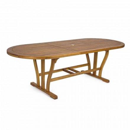 Table à manger d'extérieur extensible jusqu'à 240 cm en bois - Kaley