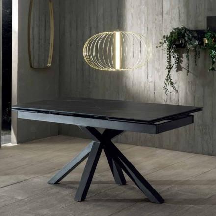 Table de Salle à Manger Extensible jusqu'à 240 cm avec Plateau en Céramique