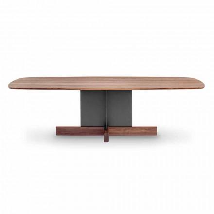 Table à manger design avec base croisée Made in Italy - Table Bonaldo Cross
