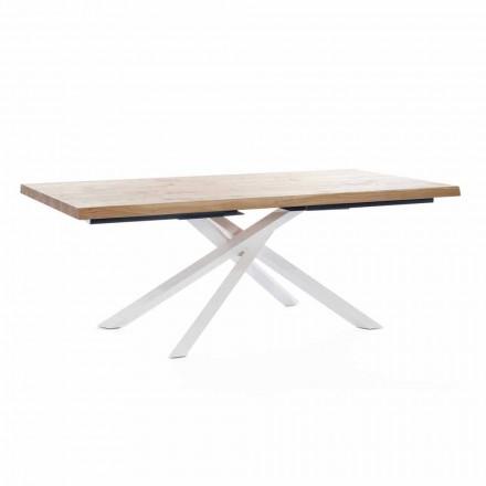Table à manger design en bois et métal Made in Italy - Skipper