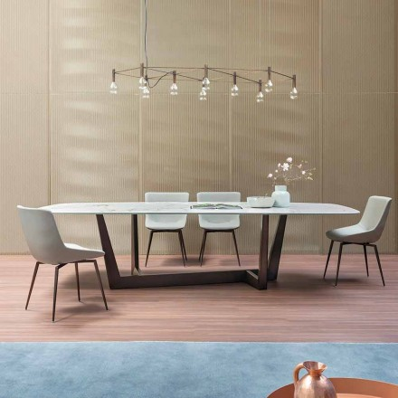 Table Déjeuner en céramique et métal bronze Made in Italy – Art
