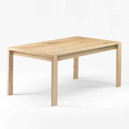 Table à manger moderne en bois de chêne massif Made in Italy - Willow