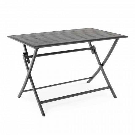 Table à manger d'extérieur en aluminium avec structure pliante - Hunt