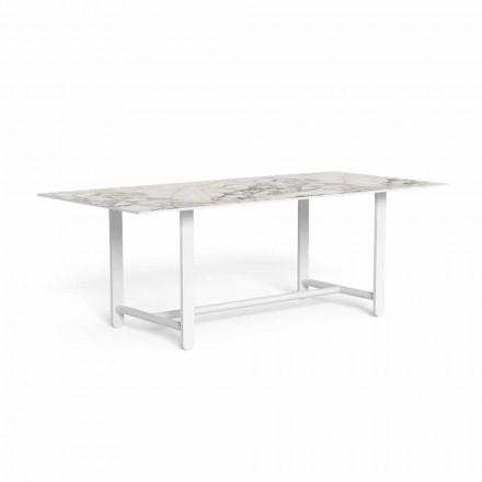 Table à manger d'extérieur avec plateau en grès, haute qualité - Riviera par Talenti
