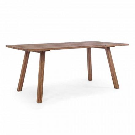 Table de salle à manger d'extérieur en bois d'acacia finition à l'huile - Leonard
