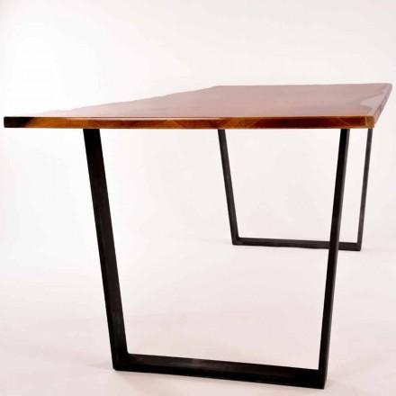 Table à manger rectangulaire de design en bois produit en Italie Rino
