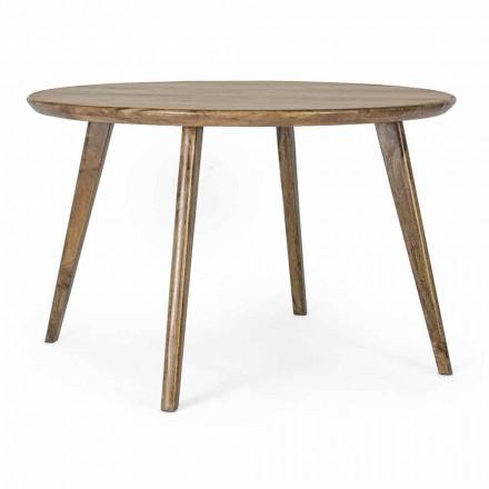 Table à manger ronde Homemotion avec plateau en manguier - Rondolo