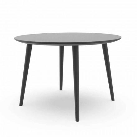 Table de salle à manger de jardin ronde en aluminium blanc ou anthracite - Sofy Talenti