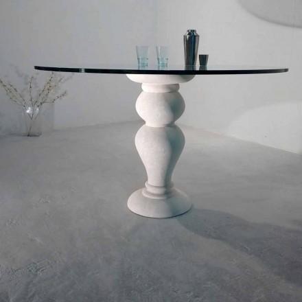 Table de salle à manger ronde en pierre naturelle de Vicenza Edipo