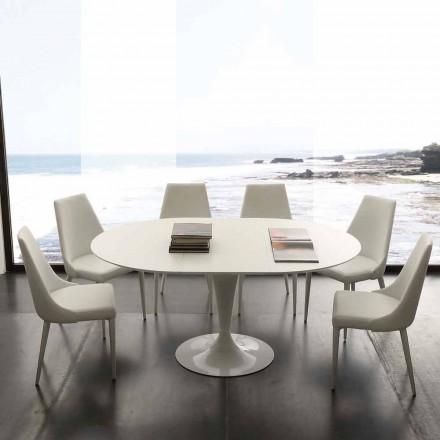 Table extensible de salle à manger ronde jusqu'à 170 cm Topeka
