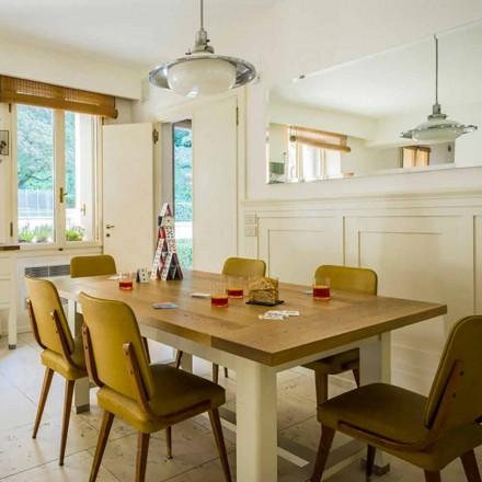 Table design moderne en bois de chêne L180xP100cm, Willis
