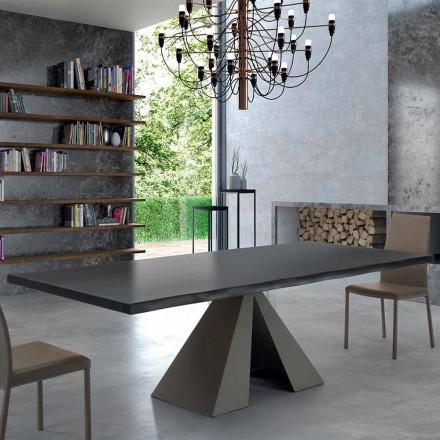 Table de Design en Bois Plaqué et Acier Made in Italy – Dalmata