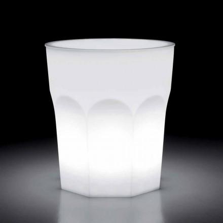 Table d'extérieur design lumineux en polyéthylène et Hpl Made in Italy - Pucca
