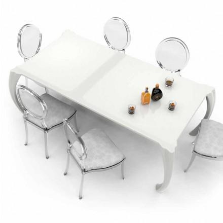 Table à manger design moderne fabriqué en Italie, Milzano