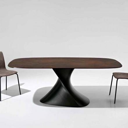 Table design moderne en vitrocéramique produite en Italie, Clark
