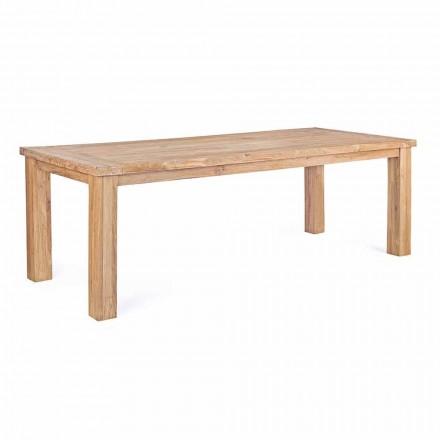 Table de jardin en bois de teck design, 8 sièges Homemotion - Hunter