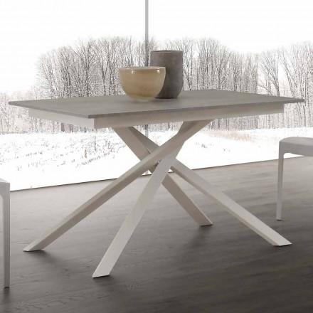 Table extensible jusqu'à 190 cm de design Lecce ave pieds croisés