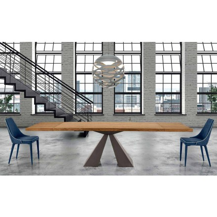 Table en Bois Extensible jusqu'à 300 cm Moderne Made in Italy – Dalmata