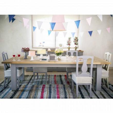 Table design moderne en chêne gris, L180x P100cm, Willis