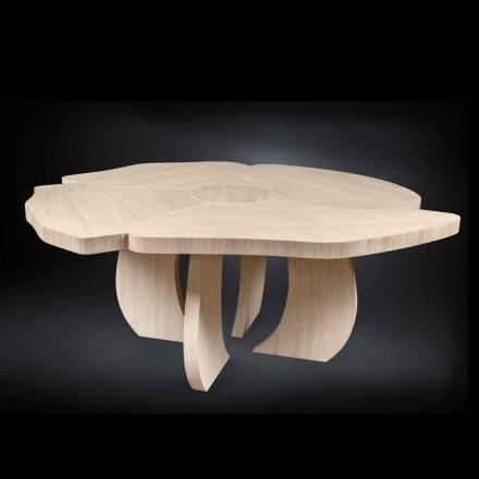 Table en bois de chêne brossée avec finition cirée Andy
