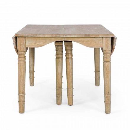 Table classique en bois massif extensible jusqu'à 382 cm Homemotion - Brindisi