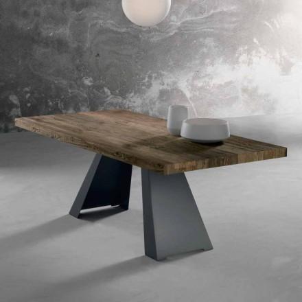 Table design en bois massif fabriquée en Italie, Zerba