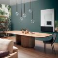 Table en Bois massif moderne Made in Italy - Bonaldo Mellow
