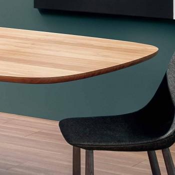 Table Moderne en Bois Massif Fabriquée en Italie - Bonaldo Mellow