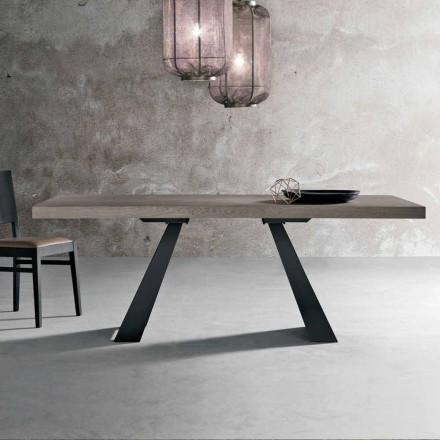 Table moderne en bois de chêne noué fabriqué en Italie, Zerba