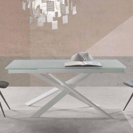 Table en Verre Extensible, de Design Moderne – Marliana