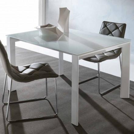 Table en verre trempé Phoenix, design moderne