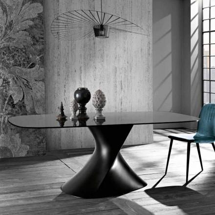 Table en verre trempé design moderne produit en Italie, Clark
