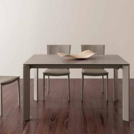Table en verre/céramique avec rallonge papillon Terni, jusqu'à 240 cm
