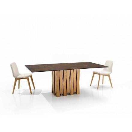 Table en vitrocéramique de design moderne faite en Italie, Egisto