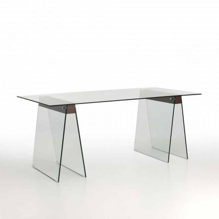 Table de salon design moderne avec plateau en verre et base en verre - Lausanne