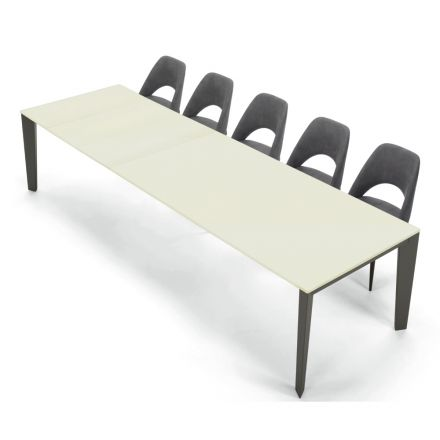Table Moderne Extensible 16 Places en Bois Laminé Fenix Made in Italy – Settanta