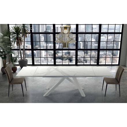 Table Moderne Extensible 300 cm en Hypermarbre Made in Italy – Settimmio