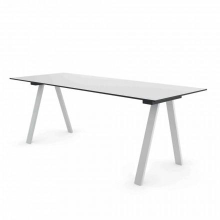 Table de design d'extérieur moderne en métal et HPL Made in Italy - Denzil