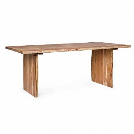 Table de salle à manger moderne en bois d'acacia Homemotion - Pinco