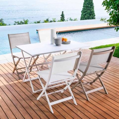 Table pliante de jardin faite en aluminium Queen par Talenti