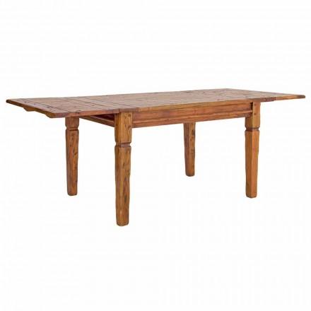 Table extensible classique jusqu'à 290 cm en bois massif Homemotion - Carbo
