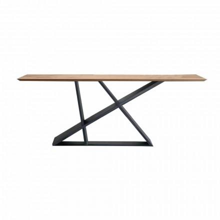 Table à manger extensible jusqu'à 294 cm en bois, qualité Made in Italy - Cirio