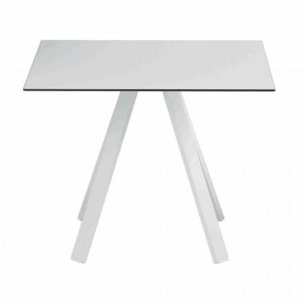 Table d'extérieur carrée en métal et HPL Made in Italy - Deandre