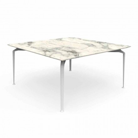 Table d'extérieur design moderne en grès et aluminium - Cruise Alu Talenti