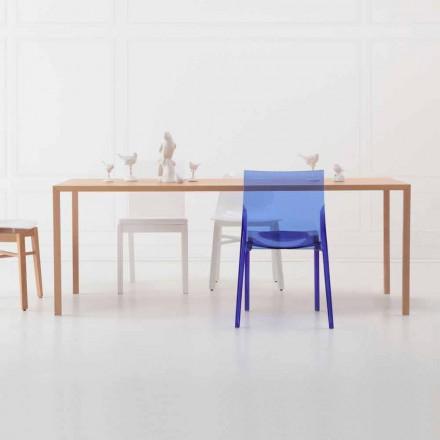 Table de salle à manger rectangulaire de design moderne en bois de chêne naturel - Smart