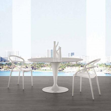 Table ronde Rimini de design avec plateau en marbre Carrara, Ø 120 cm