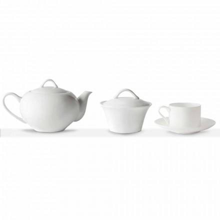 Tasses à Thé Empilables Service Petit Déjeuner 14 Pièces en Porcelaine - Romilda