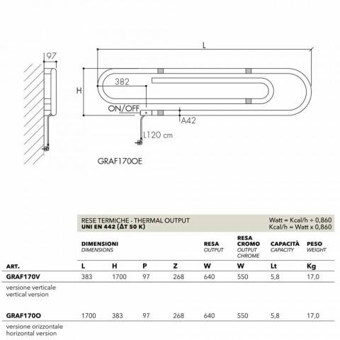 TERMOARREDO conception de base électrique avec finition chromée Scirocco H